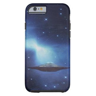 Coque iPhone 6 Tough Objet de vol d'UFO dans l'espace