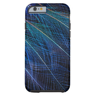 Coque iPhone 6 Tough Oiseau bleu d'abrégé sur plume de paradis