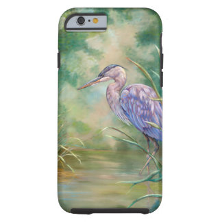 "Coque iPhone 6 Tough Peinture en pastel de héron bleu de ""solitude"" -"