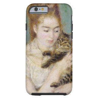 Coque iPhone 6 Tough Pierre une femme de Renoir | avec un chat