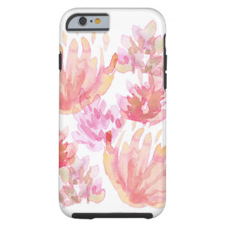 Coque iPhone 6 Tough Pivoines d'aquarelle