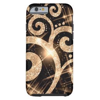 Coque iPhone 6 Tough Remous de parties scintillantes d'or