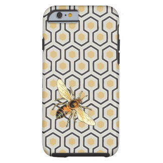 Coque iPhone 6 Tough Rétro ruche de motif de nid d'abeilles
