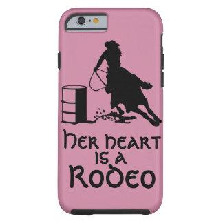 Coque iPhone 6 Tough Son coeur est un baril de rodéo emballant la