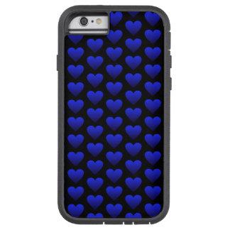 Coque iPhone 6 Tough Xtreme Caisse bleue de l'iPhone 6/6s de coeur