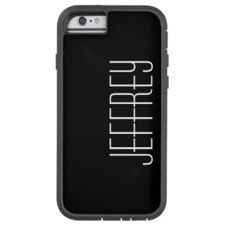 Coque iPhone 6 Tough Xtreme caisse de l'iPhone 6, noir et blanc, personnalisée
