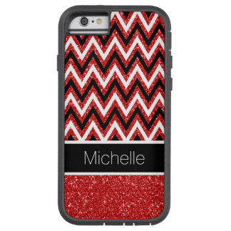 Coque iPhone 6 Tough Xtreme Caisse rouge faite sur commande de l'iPhone 6 de