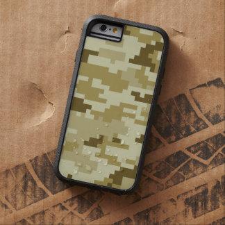 Coque iPhone 6 Tough Xtreme Camouflage/Camo de désert de pixel de 8 bits