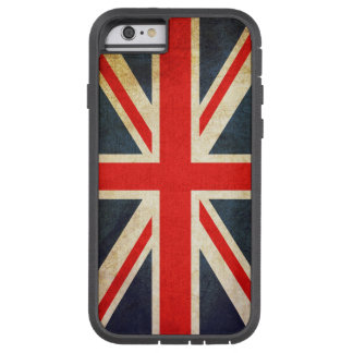 Coque iPhone 6 Tough Xtreme Cas britannique vintage de l'iPhone 6 de drapeau