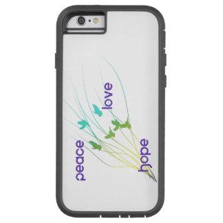 Coque iPhone 6 Tough Xtreme Cas de téléphone d'espoir d'amour de paix