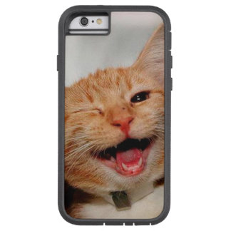 Coque iPhone 6 Tough Xtreme Chat clignant de l'oeil - chat orange - les chats