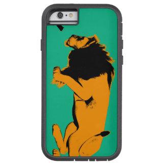 Coque iPhone 6 Tough Xtreme Chat contre le lion prêt à combattre ou prendre