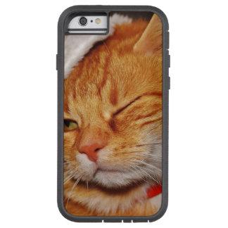 Coque iPhone 6 Tough Xtreme Chat orange - chat du père noël - Joyeux Noël