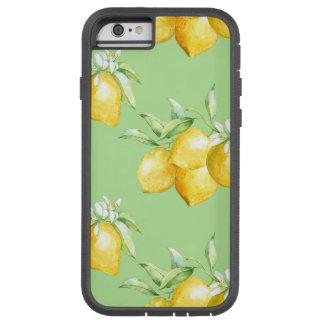 Coque iPhone 6 Tough Xtreme Citrons jaunes sur vert clair