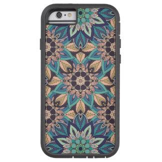 Coque iPhone 6 Tough Xtreme Conception florale de motif d'abrégé sur mandala