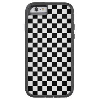 Coque iPhone 6 Tough Xtreme Damier noir et blanc