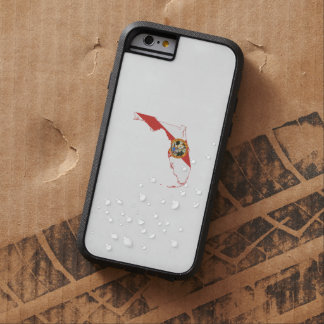 Coque iPhone 6 Tough Xtreme Drapeau et carte d'état de la Floride