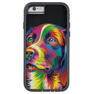 Coque iPhone 6 Tough Xtreme Golden retriever coloré