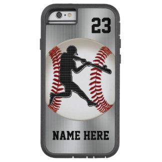 Coque iPhone 6 Tough Xtreme iPhone de NOM et de NOMBRE 6 cas de base-ball durs