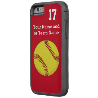 Coque iPhone 6 Tough Xtreme iPhone du votre d'équipe base-ball de COULEURS et