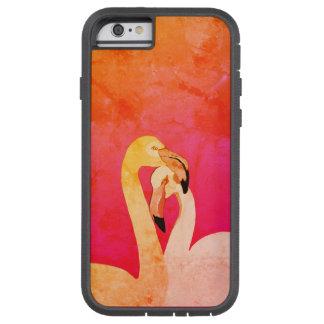 Coque iPhone 6 Tough Xtreme iPhone rose 6/6s, Xtreme dur d'oiseaux de flamant