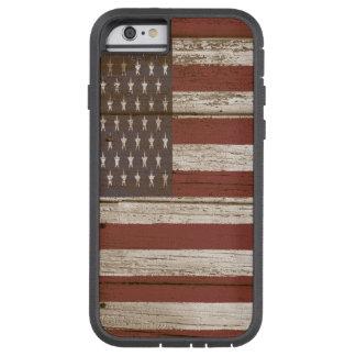 Coque iPhone 6 Tough Xtreme Le bois embarque le drapeau américain