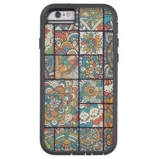 Coque iPhone 6 Tough Xtreme Patchwork de Bohème coloré de mandala