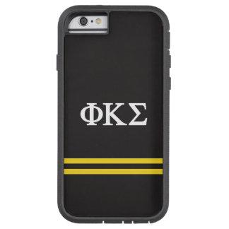 Coque iPhone 6 Tough Xtreme Rayure de sport du sigma   de Kappa de phi