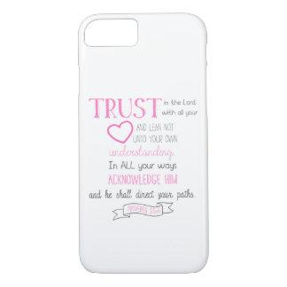 Coque iPhone 7 3:5 de proverbes de cas de téléphone de vers de