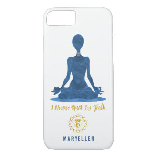 Coque iPhone 7 5ème Affirmation de bleu de Vishuddha de gorge de