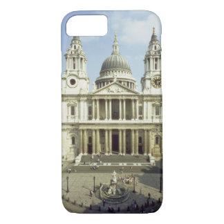 Coque iPhone 7 À l'ouest avant de la cathédrale de St Paul, conçu