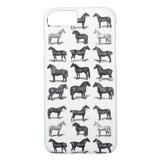 Coque iPhone 7 Affiche vintage de cheval