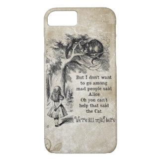 Coque iPhone 7 Alice au pays des merveilles ; Chat de Cheshire