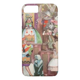 Coque iPhone 7 Alice vintage au pays des merveilles, reine des