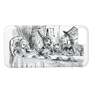 Coque iPhone 7 Alice vintage au pays des merveilles, scène de thé