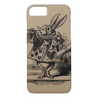 Coque iPhone 7 Alice vintage chez le lapin blanc du pays des