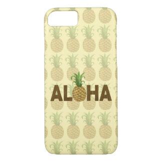 Coque iPhone 7 Aloha Hawaïen vintage Hawaï d'ananas