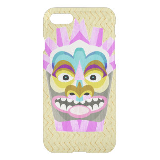 Coque iPhone 7 Aloha monstre drôle de hutte de Tiki