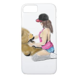 Coque iPhone 7 Amour de fille et de nounours