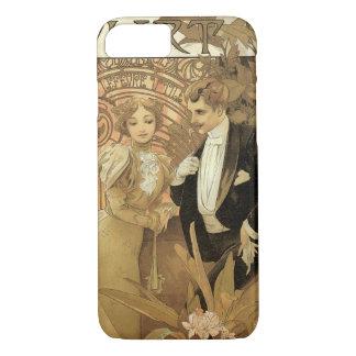 Coque iPhone 7 Amour vintage de Nouveau d'art Romance, flirt par