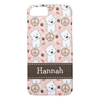 Coque iPhone 7 Amour Westies de paix