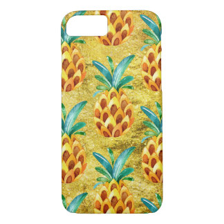 Coque iPhone 7 Ananas d'or doux