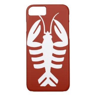 Coque iPhone 7 Animal vintage d'art déco, homard blanc sur le