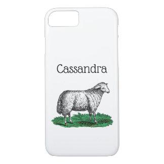 Coque iPhone 7 Animaux de ferme vintages de brebis de moutons
