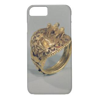 Coque iPhone 7 Anneau de cheval (or et cornaline)