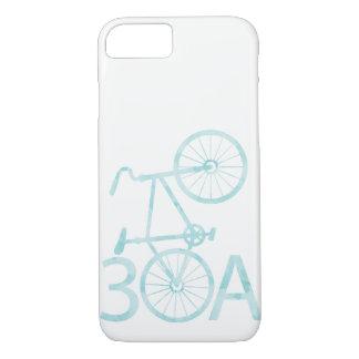 Coque iPhone 7 Aquarelle 30A avec la caisse de vélo