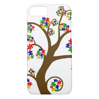 Coque iPhone 7 Arbre d'autisme de cas de l'iPhone 7 de la vie