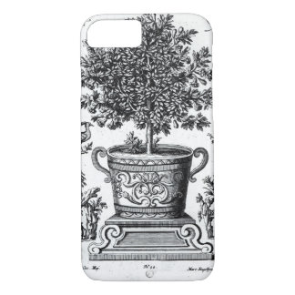 Coque iPhone 7 Arbre ornemental dans une urne sur une petite
