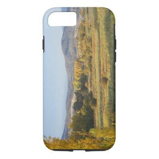 Coque iPhone 7 Arbres d'automne, Khancoban, montagnes de Milou,