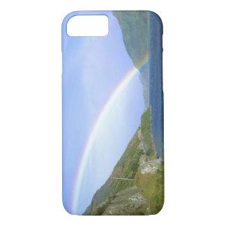 Coque iPhone 7 Arc-en-ciel au-dessus de lac Hawea, île du sud,